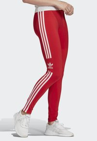 adidas Originals - TREFOIL LEGGINGS - Leggings - Trousers - red - 3