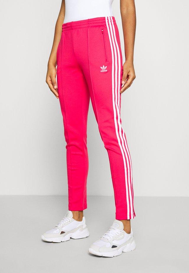 PANTS - Spodnie treningowe - power pink/white