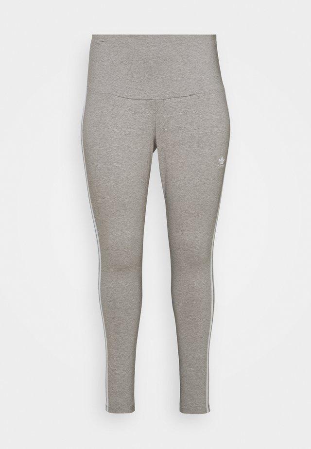STRIPES TIGHT - Leggings - grey/white