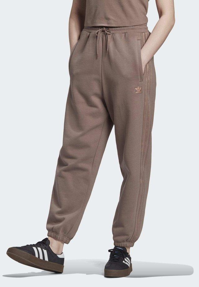 CUFFED JOGGERS - Spodnie treningowe - brown