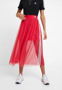 adidas Originals - SKIRT - Áčková sukně - energy pink - 0
