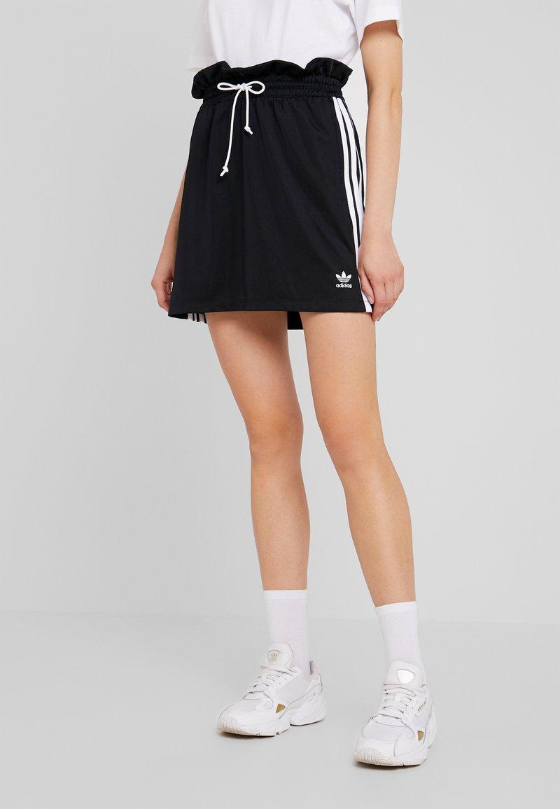 adidas Originals - BELLISTA 3 STRIPES SKIRT - Minirock - black