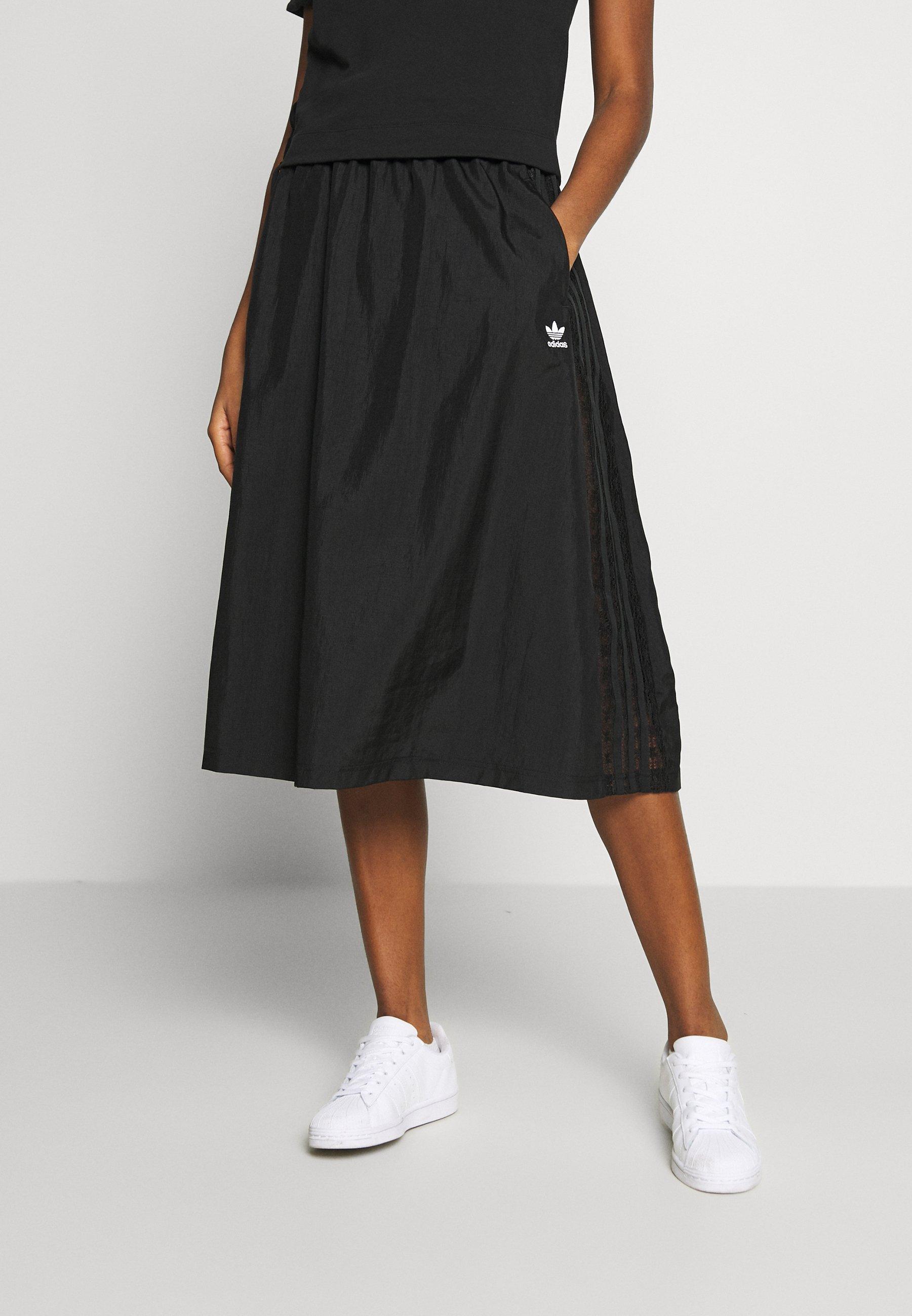 adidas Originals SKIRT - Spódnica trapezowa - black