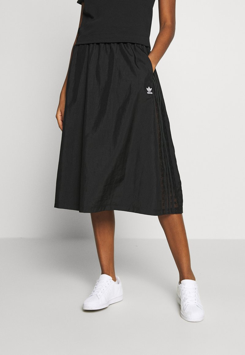 adidas Originals - SKIRT - Spódnica trapezowa - black