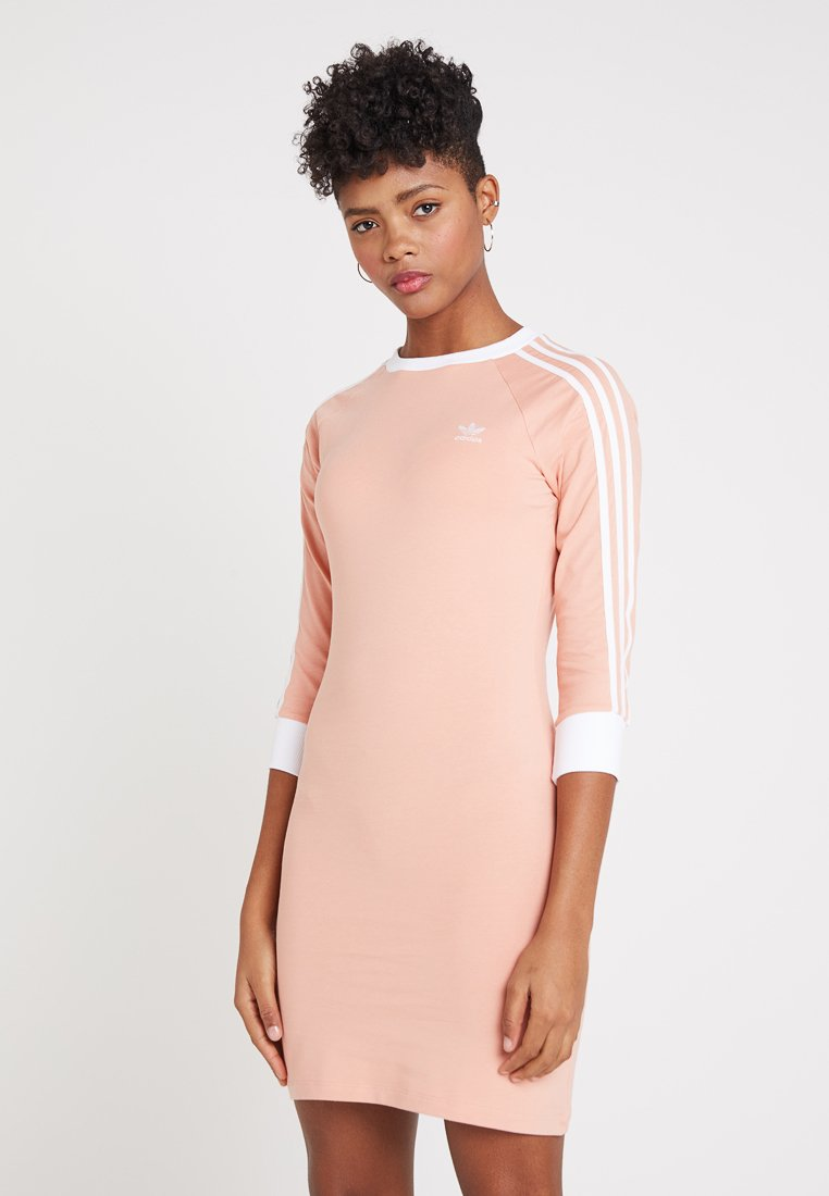 adidas Originals - STRIPES DRESS - Jerseykleid - dust pink