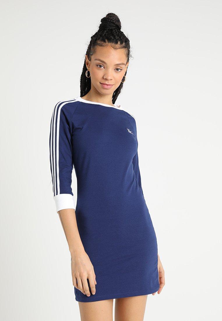 adidas Originals - STRIPES DRESS - Jerseykleid - dark blue