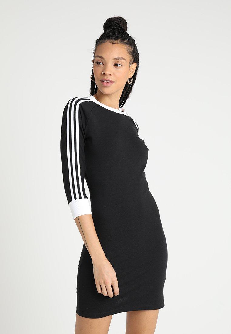 adidas Originals - STRIPES DRESS - Robe en jersey - black