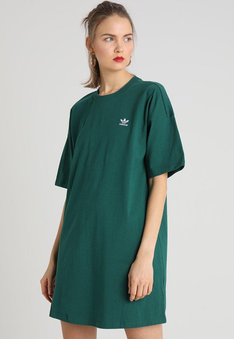 adidas Originals - TREFOIL DRESS - Jerseyjurk - collegiate green