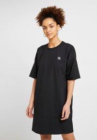 adidas Originals - TREFOIL DRESS - Jerseykjoler - black - 0