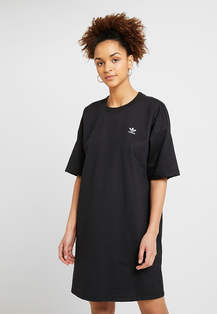 adidas Originals - TREFOIL DRESS - Žerzejové šaty - black