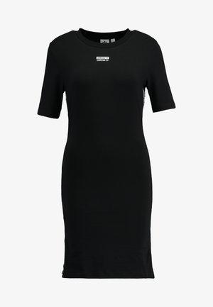 TEE DRESS - Vestido de tubo - black