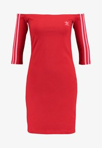 adidas Originals - SHOULDER DRESS - Shift dress - scarlet - 3