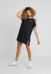adidas Originals - DRESS - Jerseykjole - black - 0