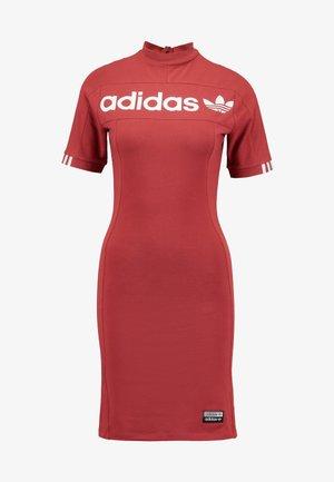 TEE DRESS - Shift dress - mystery red