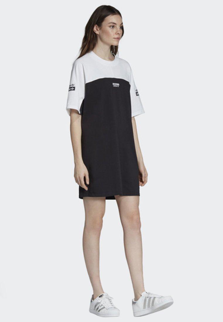 adidas Originals - TEE DRESS - Jerseyklänning - white/black