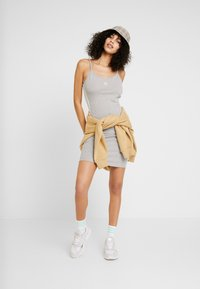 adidas Originals - ADICOLOR SPAGHETTI STRAP TANK DRESS - Shift dress - medium grey heather/white - 1