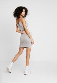 adidas Originals - ADICOLOR SPAGHETTI STRAP TANK DRESS - Shift dress - medium grey heather/white - 2