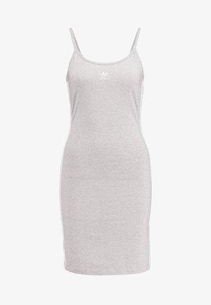 TANK DRESS - Etuikjole - medium grey heather/white