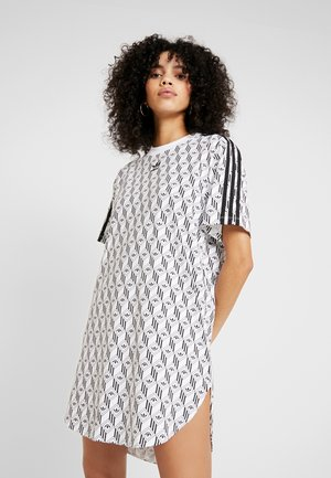 TEE DRESS - Vestito di maglina - white/black