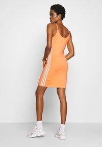 adidas Originals - TANK DRESS - Vestido de tubo - semi coral/white - 2