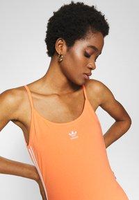 adidas Originals - TANK DRESS - Vestido de tubo - semi coral/white - 3