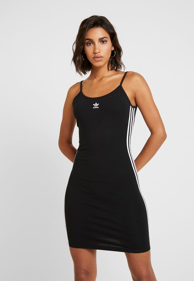 SPORTS INSPIRED SLIM DRESS - Shift dress - black/white