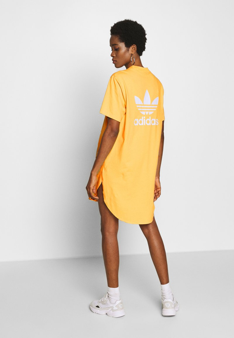adidas Originals - ADICOLOR TREFOIL DRESS - Jersey dress - core yellow/white