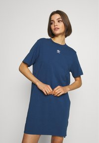 adidas Originals - ADICOLOR TREFOIL DRESS - Jerseykleid - night marine - 0