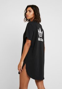 adidas Originals - DRESS - Vestito di maglina - black/white - 2