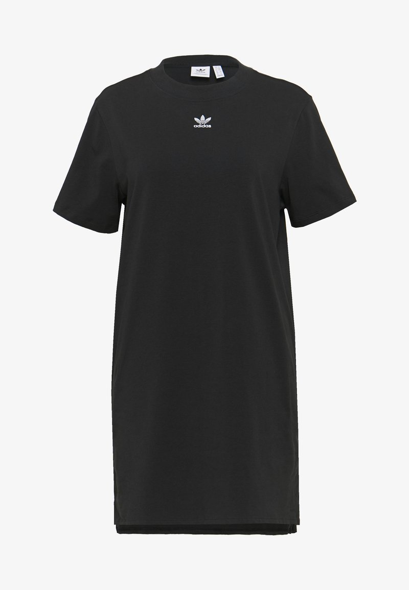 adidas Originals - ADICOLOR TREFOIL DRESS - Jerseykleid - black/white