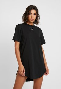 adidas Originals - DRESS - Vestito di maglina - black/white - 0