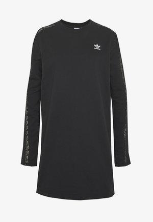 BELLISTA TREFOIL LONGSLEEVE LACE DRESS - Jerseykleid - black