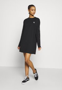 adidas Originals - BELLISTA TREFOIL LONGSLEEVE LACE DRESS - Trikoomekko - black - 1
