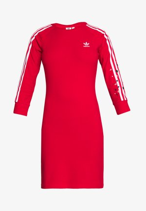3STRIPES 3/4 SLEEVE DRESS - Trikoomekko - scarlet