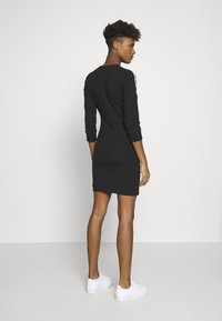 adidas Originals - 3STRIPES 3/4 SLEEVE DRESS - Jersey dress - black