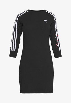 3STRIPES 3/4 SLEEVE DRESS - Jerseykjole - black