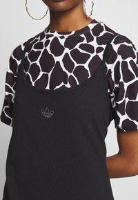 adidas Originals - FAKTEN TREFOIL TANK DRESS - Jersey dress - black - 5