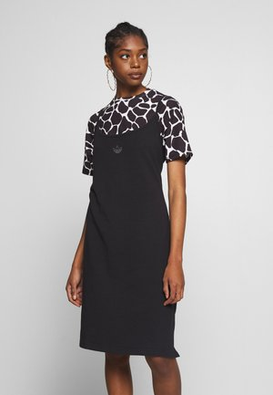 FAKTEN TREFOIL TANK DRESS - Vestito di maglina - black