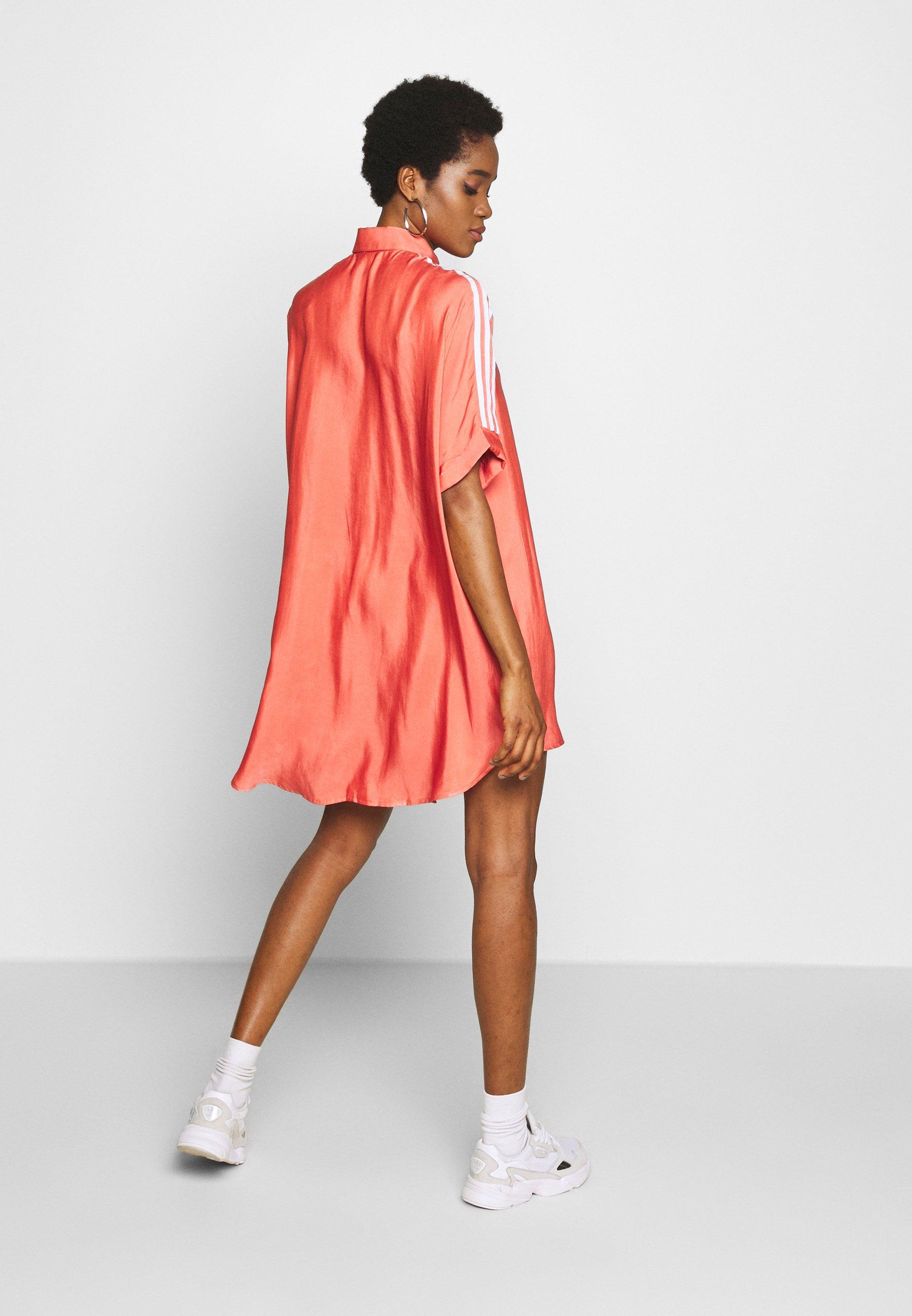 Adidas Originals Dress - Abito A Camicia Trace Scarlet 32WfMKo