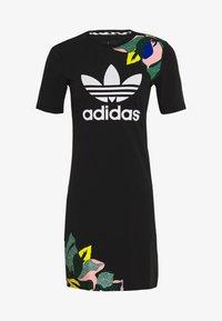 adidas Originals - TEE DRESS - Jersey dress - black - 0
