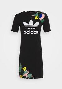adidas Originals - TEE DRESS - Sukienka z dżerseju - black - 3