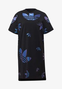adidas Originals - LARGE LOGO TEE DRESS - Trikoomekko - black - 8
