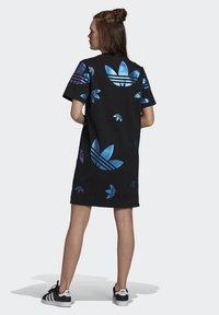 adidas Originals - LARGE LOGO TEE DRESS - Trikoomekko - black - 2