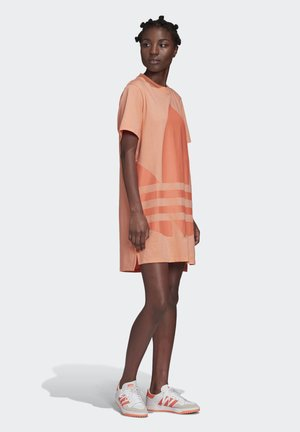 LOGO TEE DRESS - Vapaa-ajan mekko - orange