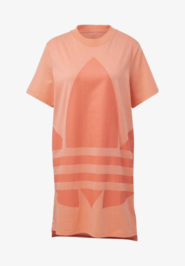 LOGO TEE DRESS - Korte jurk - orange