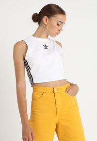 adidas Originals - CROP TANK - Top - white - 0