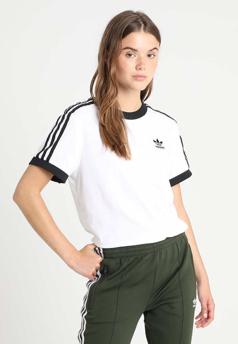 adidas Originals - STRIPES TEE - Print T-shirt - white