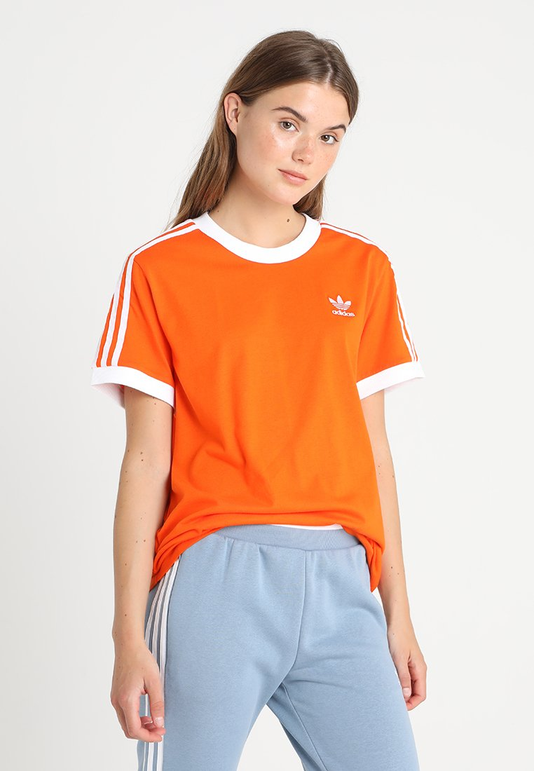 adidas Originals - STRIPES TEE - Print T-shirt - orange