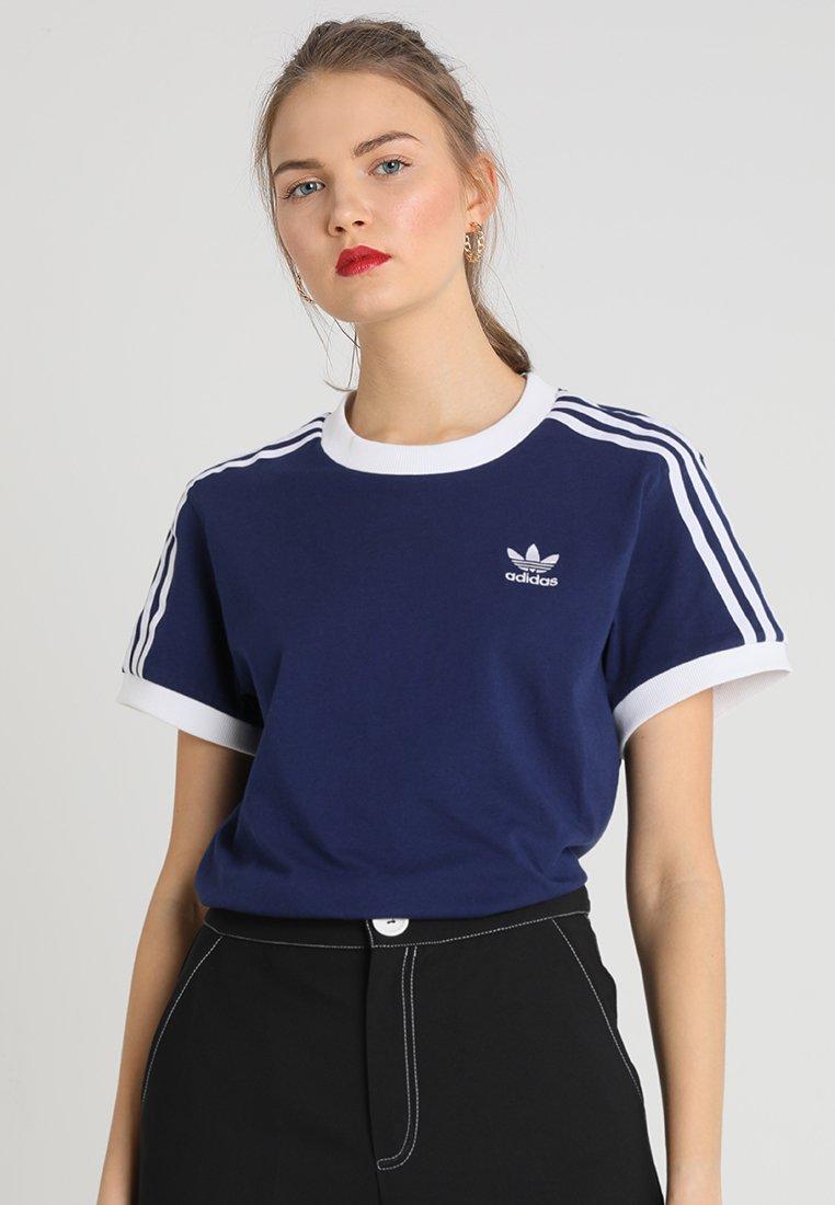 adidas Originals - STRIPES TEE - Print T-shirt - dark blue