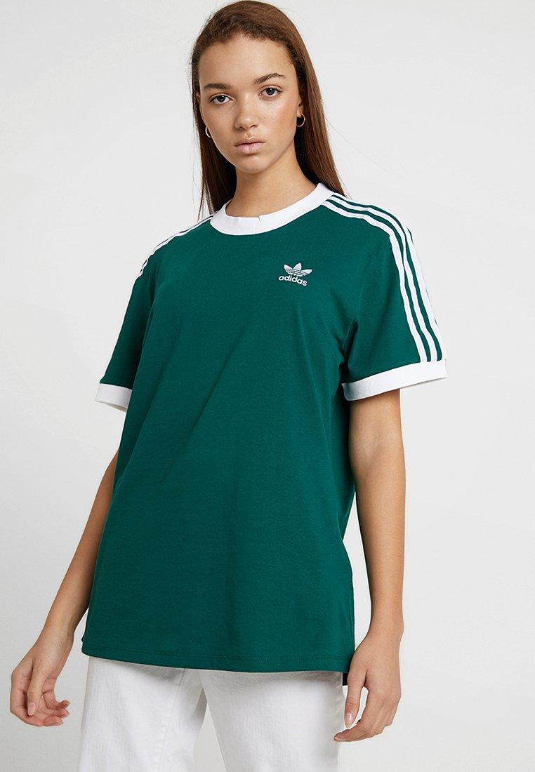 adidas Originals - STRIPES TEE - T-Shirt print - green